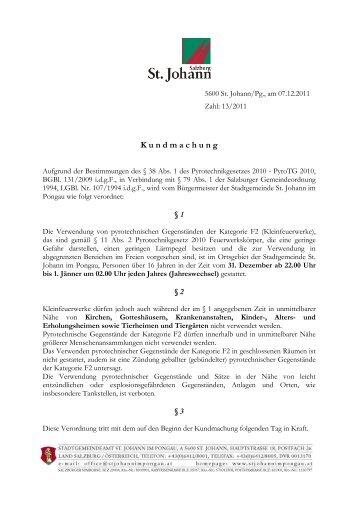 Pyrotechnik (330 KB) - .PDF - St. Johann im Pongau