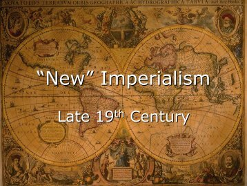 """""""New"""" Imperialism"""