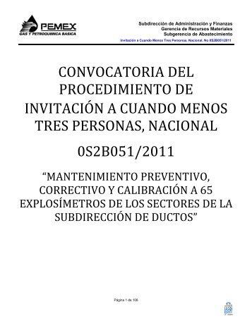 modelo de convocatoria a la licitacion publica nacional