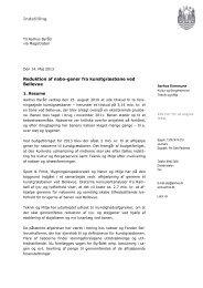Indstilling Reduktion af nabo-gener fra kunstgræsbane ved Bellevue