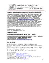 Nr. 14, September 2002 - AK Geographie und Geschlecht
