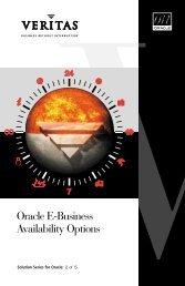 Oracle E-Business Availability Options - Eval.veritas.com