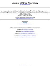 Journal of Child Neurology - Muscular Dystrophy Association