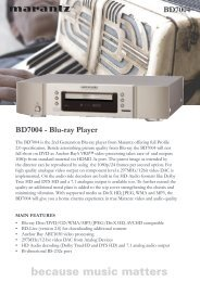 BD7004 - Blu-ray Player BD7004 - Reference Audio