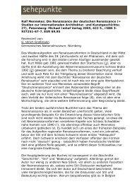 Ralf Mennekes: Die Renaissance der deutschen ... - Sehepunkte