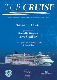October 5—12, 2013 Priscilla Presley Jerry Schilling