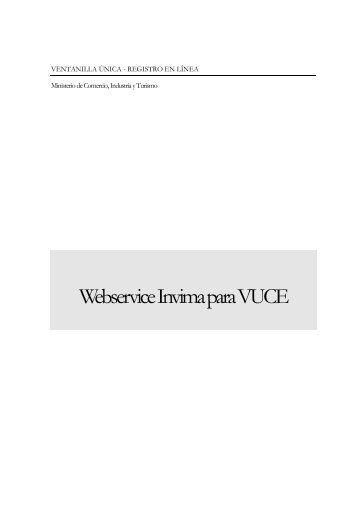 manual webservice invima - Vuce