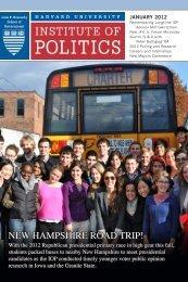 new hampshire road trip! - Harvard University Institute of Politics
