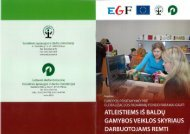 Leidinys apie įgyvendintą projektą. - Lietuvos darbo birža
