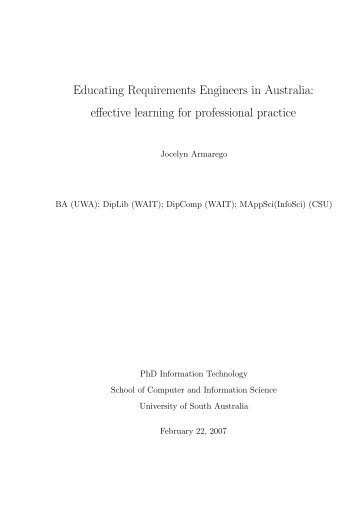 Complete thesis - Murdoch University