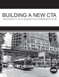 BUILDING A NEW CTA - Chicago Transit Authority