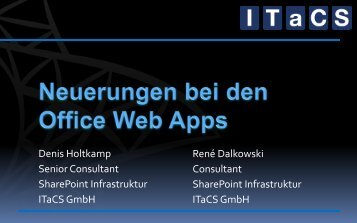 SharePoint 15 Infrastruktur; Office Web Apps - ITaCS Blogs