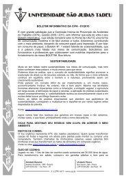 BOLETIM INFORMATIVO DA CIPA - 01/2010