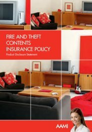 Fire and TheFT ConTenTs insuranCe PoliCy - AAMI