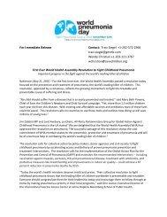 Traci Siegel +1-202-572-2966 - World Pneumonia Day