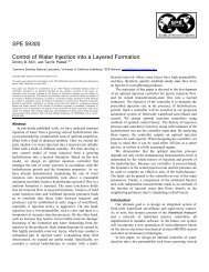 SPE 59300 Control of Water Injection into a Layered Formation