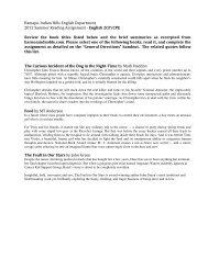 Ramapo-‐Indian Hills English Department 2012 Summer Reading ...