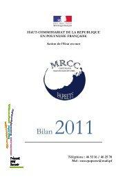 BILAN MRCC 2011.pdf - Haut-Commissariat de la république en ...