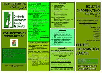 boletín informativo centro información juvenil - web antigua