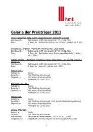 Galerie der Preisträger 2011 - Hochschule für Musik und Theater ...