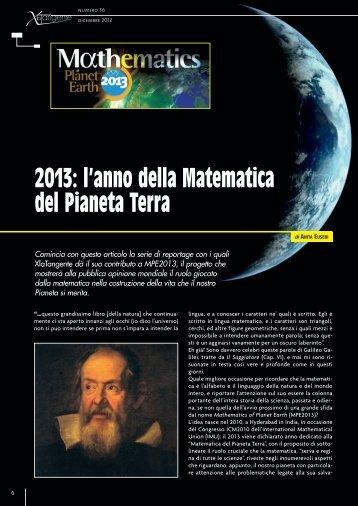 2013: l'anno della Matematica del Pianeta Terra - xlatangente