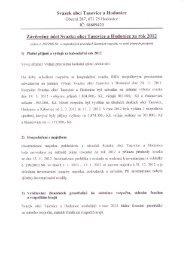 Závěrečný účet Svazku obcí Tasovice a Hodonice za rok 2012