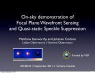 On-sky demonstration of Focal Plane Wavefront ... - AO4ELT 2
