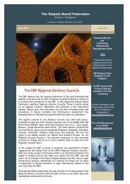 DBF - June 2011 Newsletter - The Dispute Board Federation