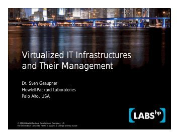 Virtualized IT Infrastructures and Their Management