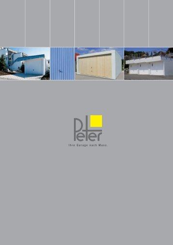 Garagen - Peter® Bausysteme AG