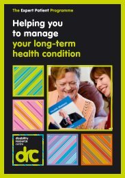 Helping you to manage your long-term health condition