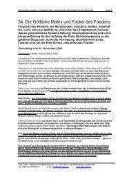 34. Die Göttliche Matrix und Fackel des Friedens - Licht-Oase