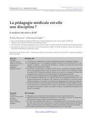 PDF (159.6 KB) - Pédagogie médicale