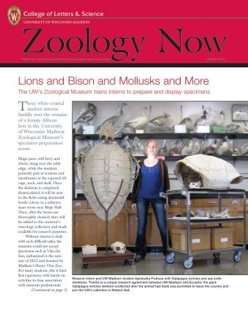 Zoology Newsletter - Department of Zoology - University of ...
