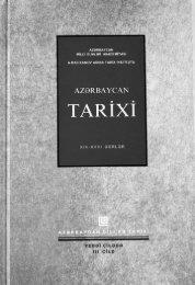 Azərbaycan tarixi XIII-XVIII əsrlər - Azərbaycan Milli Kitabxanası