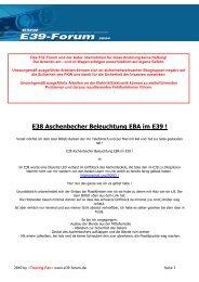 E38 Aschenbecher Beleuchtung EBA im E39 ! - BMW E39-Forum