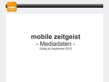 Werben auf mobile zeitgeist