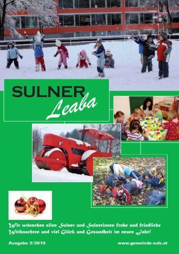 Gemeindezeitung 3/10 - Gemeinde Sulz