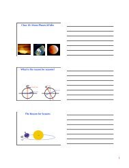 Class 10: Moon Phases &Tides What is the reason for seasons? The ...