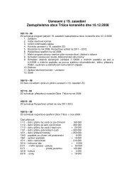 Usnesení z 19. zasedání Zastupitelstva obce Tršice konaného dne ...