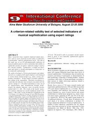 A criterion-related validity test of selected ... - Prof. Marco Costa