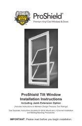 ProShield Tilt Window Installation Instructions - Weather Shield