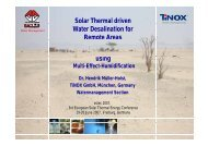 Solar Thermal driven Water Desalination for Remote Areas i using