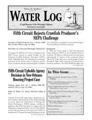 Water Log 26.3 - Mississippi-Alabama Sea Grant Legal Program