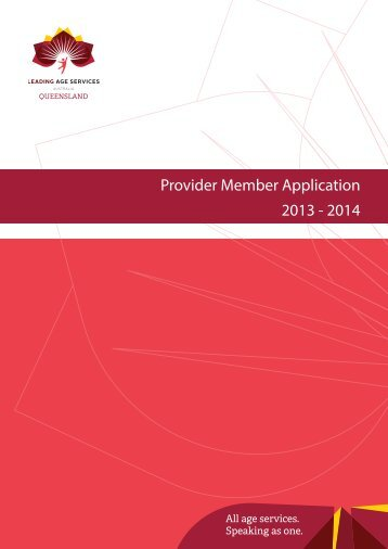 Provider Member 2013-2014 - Leading Age Services Australia ...