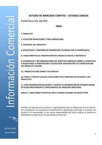 ESTUDIO DE MERCADO CONFITES – ESTADOS ... - Amcham Chile