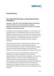Pressemitteilung Zum dritten Mal zählt adesso zu Deutschlands ...