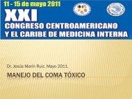 Manejo del Coma Tóxico - Revista de Medicina Interna de AMICAC