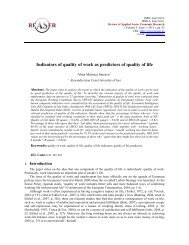 Indicators of quality of work as predictors of quality of life - Review of ...