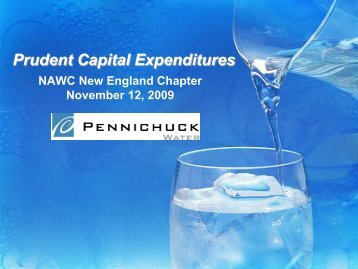 Prudent Capital Investment - NAWC